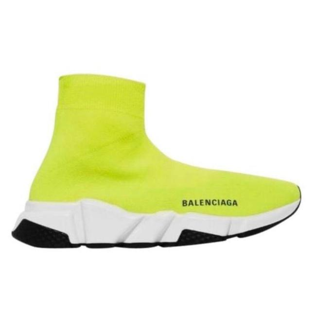 Item - Neon Speed Trainer Logo Printed Sock Sneakers Size EU 37 (Approx. US 7) Regular (M, B)