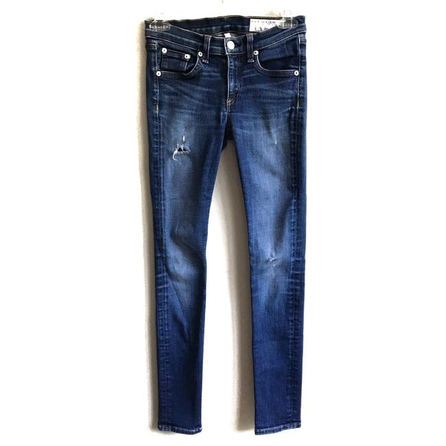 Item - Kensington Blue Distressed Skinny Jeans Size 2 (XS, 26)