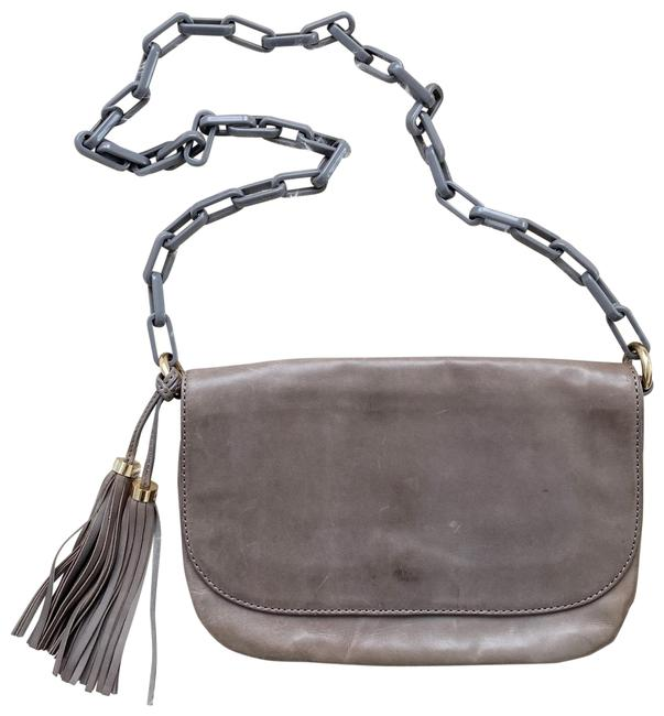 Item - Collection Gray Leather Cross Body Bag
