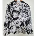 Tory Burch Black and White Floral Tunic Blouse Size 8 (M) Tory Burch Black and White Floral Tunic Blouse Size 8 (M) Image 4