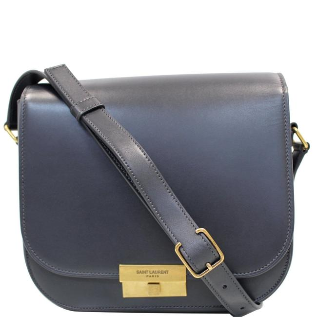 Item - Betty Yves Smooth Grey Leather Shoulder Bag