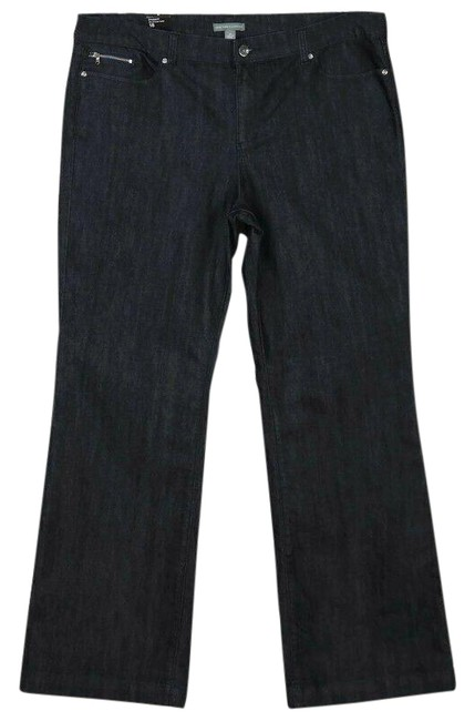 Item - Blue Dark Rinse Trouser/Wide Leg Jeans Size 18 (XL, Plus 0x)