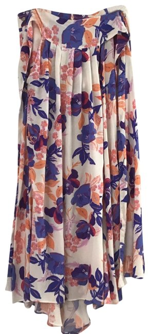Item - Pink and White Floral Skirt Size 10 (M, 31)