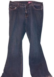 GLO Jeans Flare Leg Jeans-Medium Wash