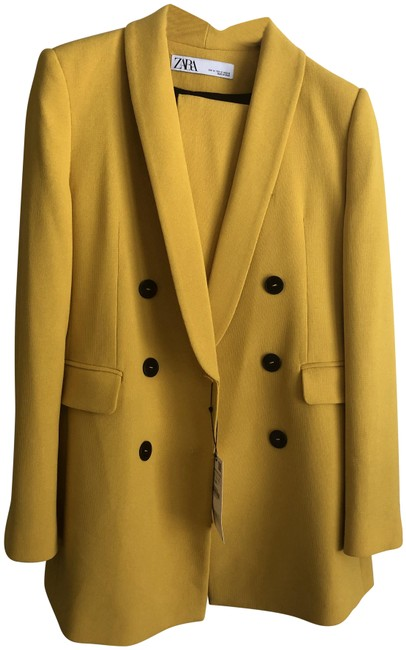 Item - Yellow New Double Breasted Jacket Pant Suit Size 8 (M)