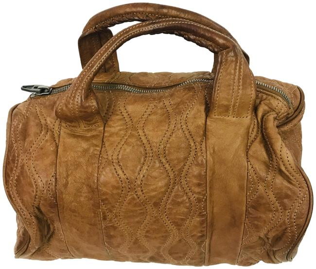 Item - Quilted Rocco Duffel Brown Leather Satchel