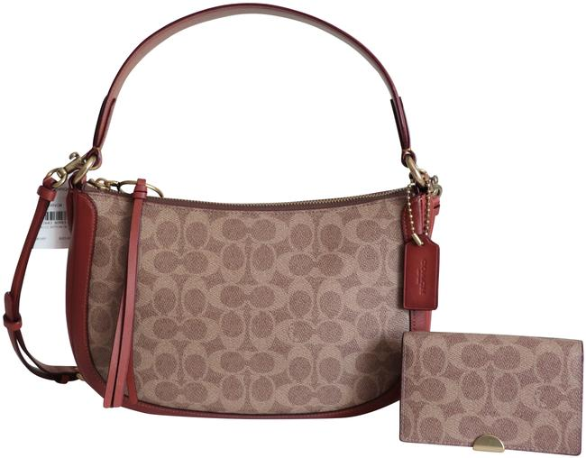 Item - Sutton Signature and Dreamer Card Case Brown Canvas Cross Body Bag