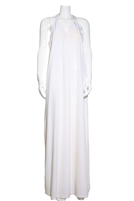 Item - White Pearl Sleeveless Long Casual Maxi Dress Size 8 (M)