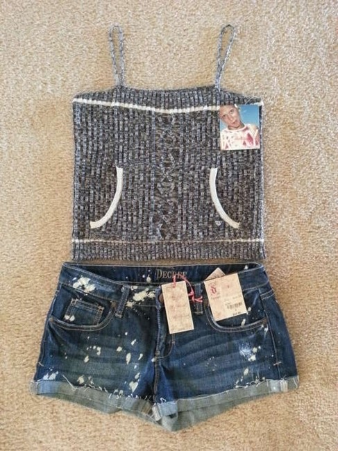 Roxy Crop Cropped Sweater Quiksilver Top Gray