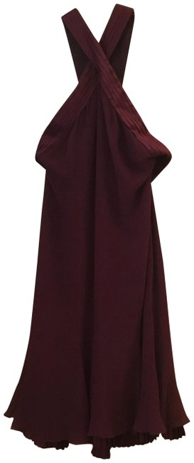 Item - Burgundy B05 49829 Mid-length Night Out Dress Size 6 (S)