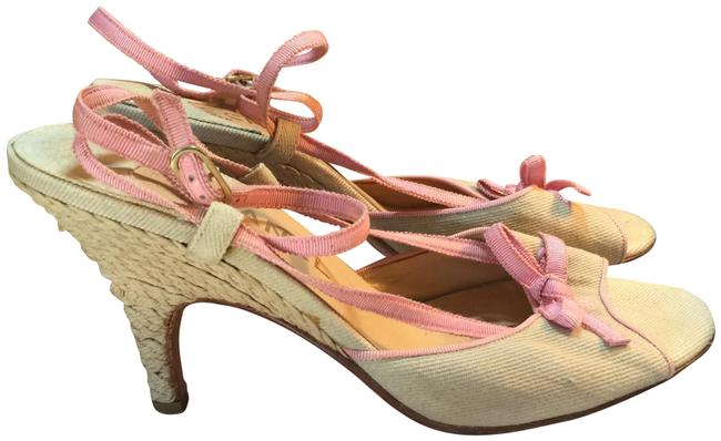Item - Pink Tan Espadrille Ankle Strap Pumps Size EU 39 (Approx. US 9) Regular (M, B)