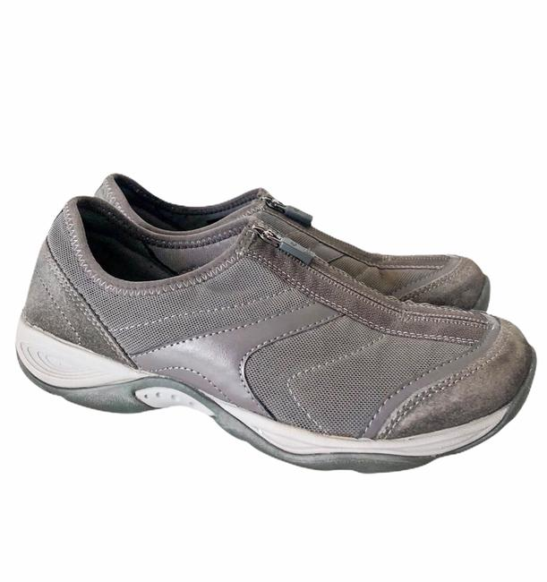 Easy Spirit Grey Ellicott Leather Zip Active Walking Sneakers Size US 6 Regular (M, B) Easy Spirit Grey Ellicott Leather Zip Active Walking Sneakers Size US 6 Regular (M, B) Image 1