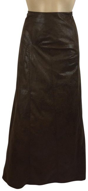 Item - Tan Faux Leather Patchwork Skirt Size 6 (S, 28)