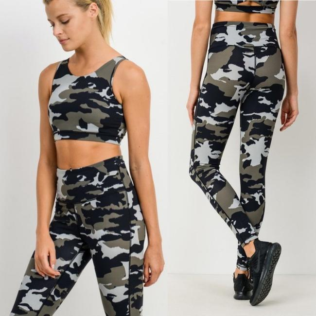 Item - Green S Aph2628 Jungle Camo High Rise Camouflage Yoga Activewear Bottoms Size 4 (S, 27)