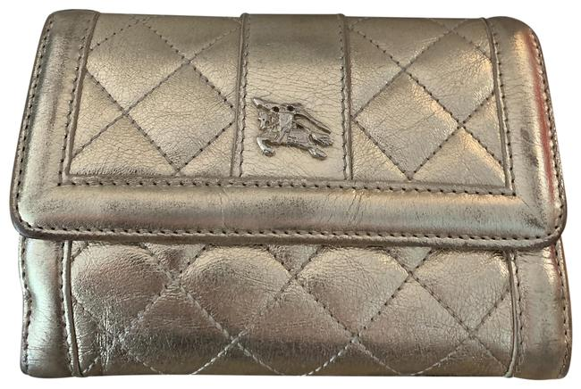 Item - Gold Metallic Button Quilted Wallet