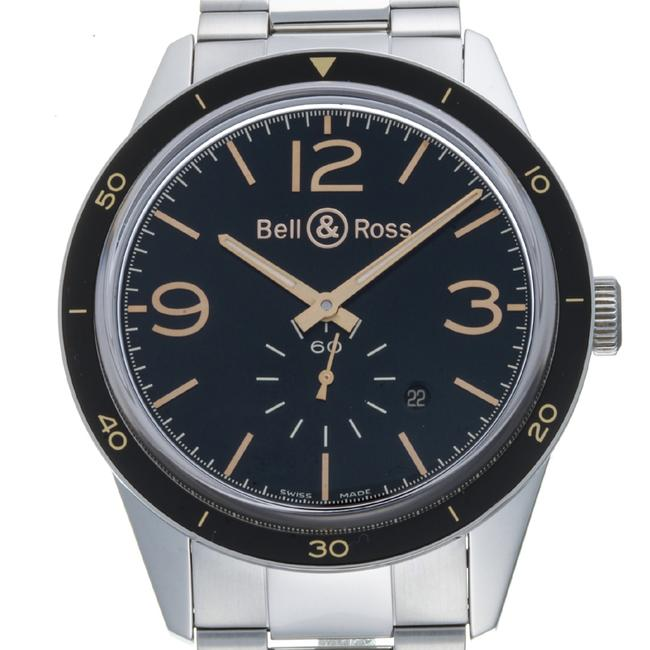 Item - Vintage Sports Heritage Men's Br123-95-sp Stainless Steel Black Arabian Dial Watch