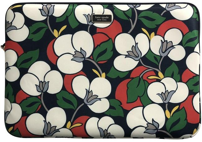 Item - Sleeve Case Padded Large Zip Dawn Floral Breezy Navy Multicolor Fabric Laptop Bag