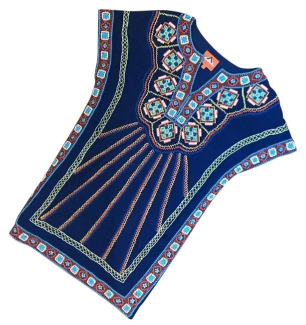 Item - Blue Beaded Tunic Size 4 (S)