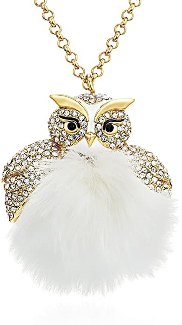 Item - White Star Bright Owl Necklace