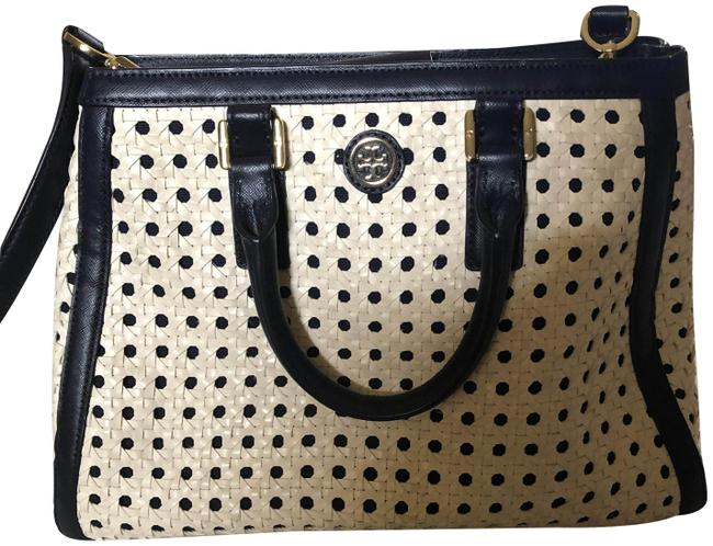 Item - Tote Blue and White Leather Cross Body Bag