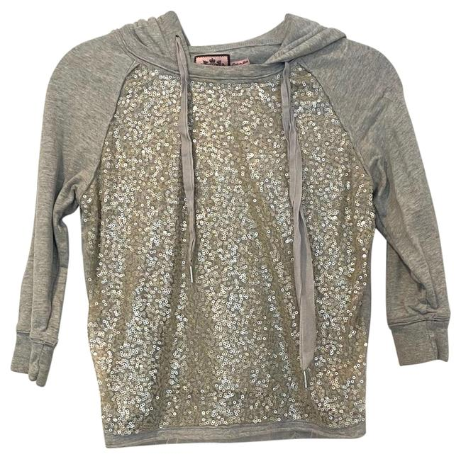 Item - Gray XS Beaded Sweatshirt/Hoodie Size 0 (XS)