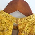 Love, Fire Yellow Gold Lace Halter Top Size 4 (S) Love, Fire Yellow Gold Lace Halter Top Size 4 (S) Image 12
