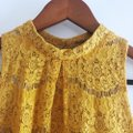 Love, Fire Yellow Gold Lace Halter Top Size 4 (S) Love, Fire Yellow Gold Lace Halter Top Size 4 (S) Image 5