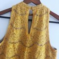 Love, Fire Yellow Gold Lace Halter Top Size 4 (S) Love, Fire Yellow Gold Lace Halter Top Size 4 (S) Image 10