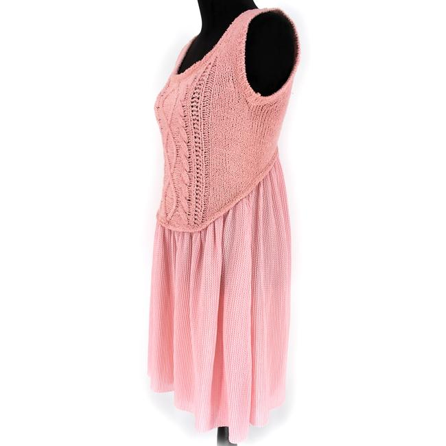 Boutique Moschino Pink Cable Knit Short Casual Dress Size 6 (S) Boutique Moschino Pink Cable Knit Short Casual Dress Size 6 (S) Image 2