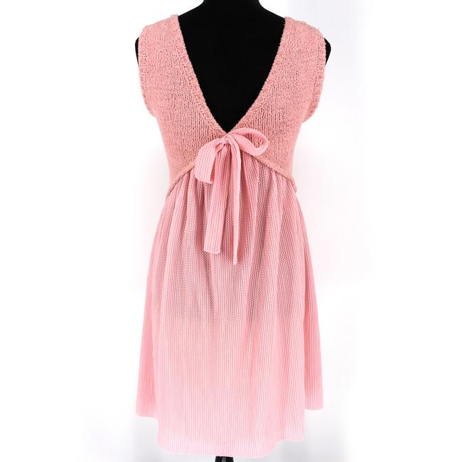Boutique Moschino Pink Cable Knit Short Casual Dress Size 6 (S) Boutique Moschino Pink Cable Knit Short Casual Dress Size 6 (S) Image 4