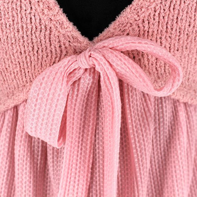 Boutique Moschino Pink Cable Knit Short Casual Dress Size 6 (S) Boutique Moschino Pink Cable Knit Short Casual Dress Size 6 (S) Image 5