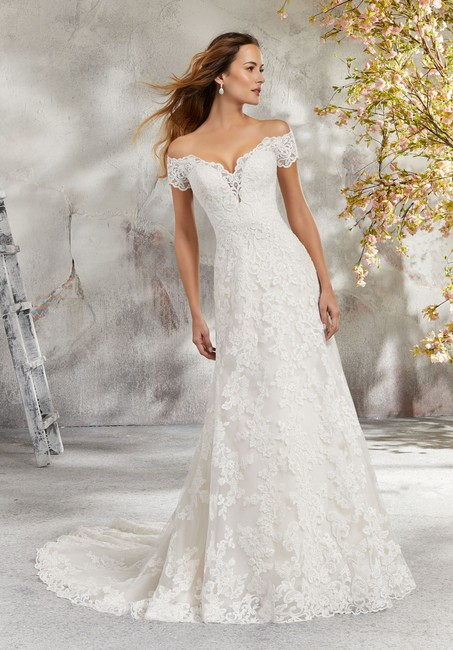 Item - Ivory Embroidered Lace 5692 Linda Traditional Wedding Dress Size 18 (XL, Plus 0x)