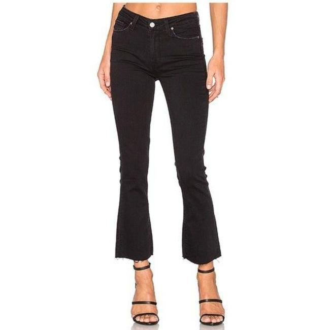 Item - Black Distressed Colette Crop Flare with Raw Hem Capri/Cropped Jeans Size 27 (4, S)