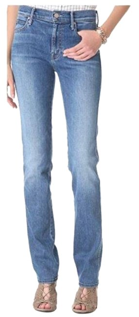 Item - Blue Medium Wash The Rascal In Happy Straight Leg Jeans Size 26 (2, XS)