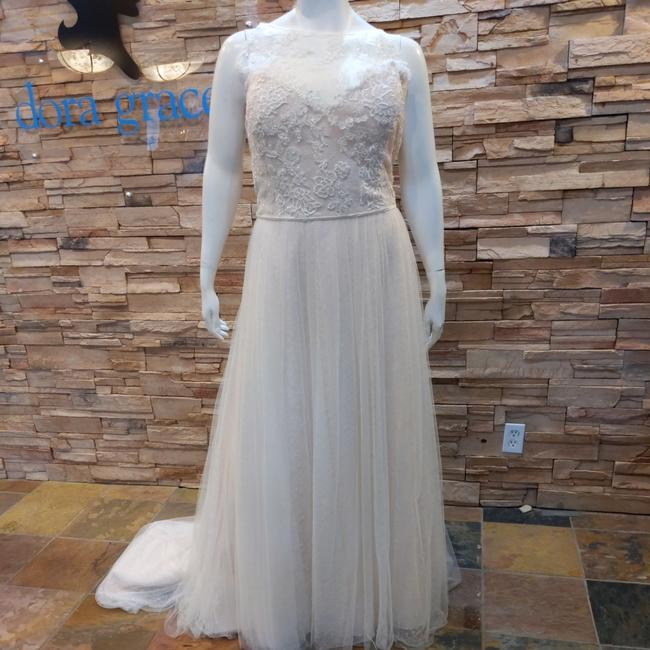 Item - Ivory Over Light Gold Tulle and Lace Heidi Casual Wedding Dress Size 28 (Plus 3x)
