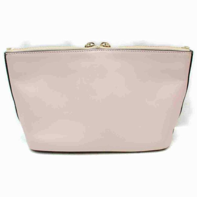 Item - Baylee Two-tone Two Way Style Top Handle Purse Black/Pink Leather/Gold Satchel