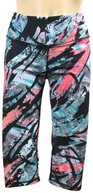 Item - Multicolor Cropped Print Activewear Bottoms Size 6 (S)