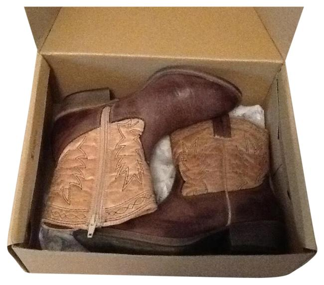 Item - Brown/Tan Coconuts By Boots/Booties Size US 6.5 Regular (M, B)