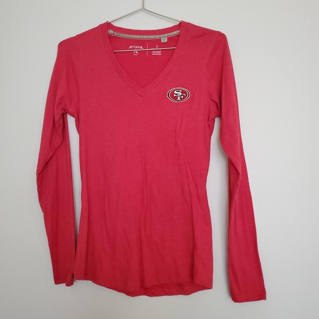 Item - Red 49ers Long Sleeve Tee Shirt Size 4 (S)