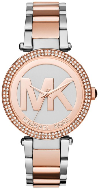 Item - Silver Rose Gold Parker and Ladies Mk6314 Watch