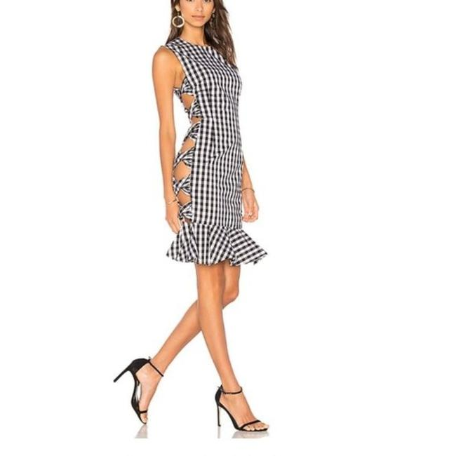 Item - Black & White Giovana Gingham Short Night Out Dress Size 2 (XS)