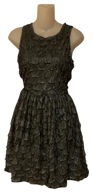 Item - Black and Tan Textured Cocktail Short Casual Dress Size 8 (M)