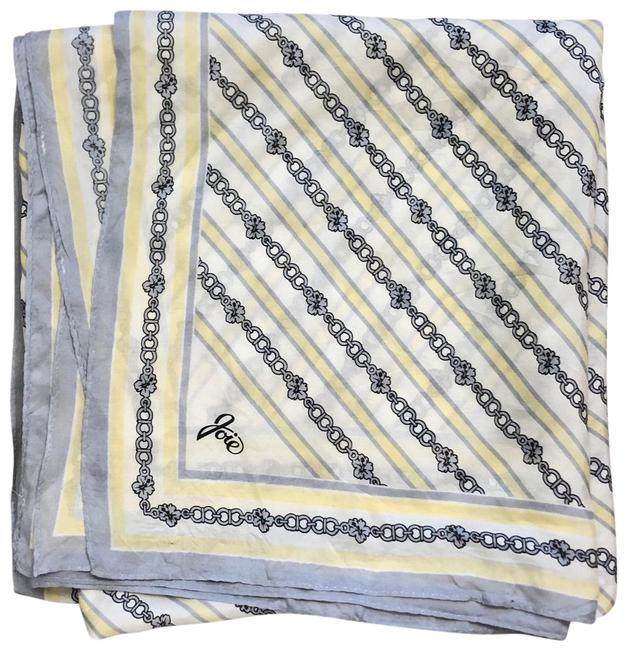 Item - Yellow Silk Chain Link Large Square Scarf/Wrap