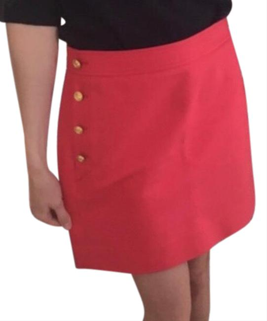 J.Crew Coral Pink Postage Stamp Sailor ⚓️ Nautical Gold Buttons⚓️ Fashion ⚓️ Skirt Size 2 (XS, 26) J.Crew Coral Pink Postage Stamp Sailor ⚓️ Nautical Gold Buttons⚓️ Fashion ⚓️ Skirt Size 2 (XS, 26) Image 1