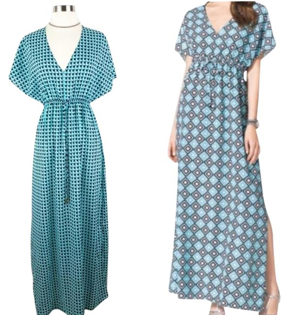 Item - Blue White XS Butterfly Sleeve Long Casual Maxi Dress Size 0 (XS)
