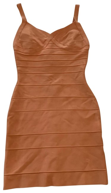 Item - Peach Signature Bandage Mid-length Night Out Dress Size 4 (S)