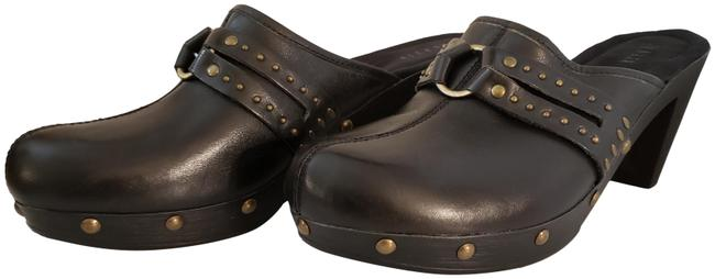 Item - Black Studded Leather Mules/Slides Size US 10 Regular (M, B)