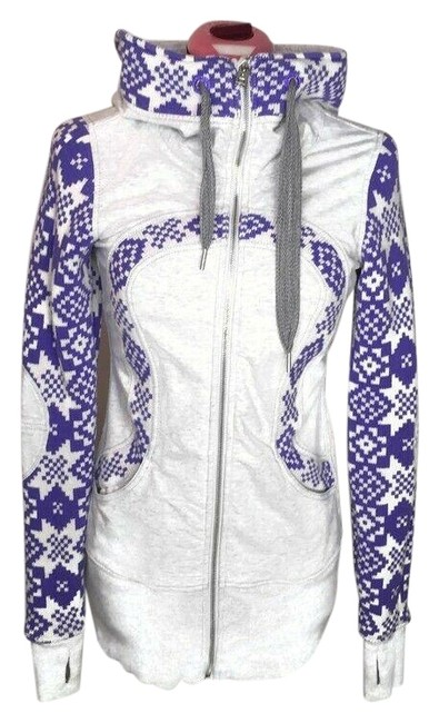 Item - Grey Purple XS Live Simply Jacket Rare Snowflake Zip Small Activewear Outerwear Size 4 (S, 27)