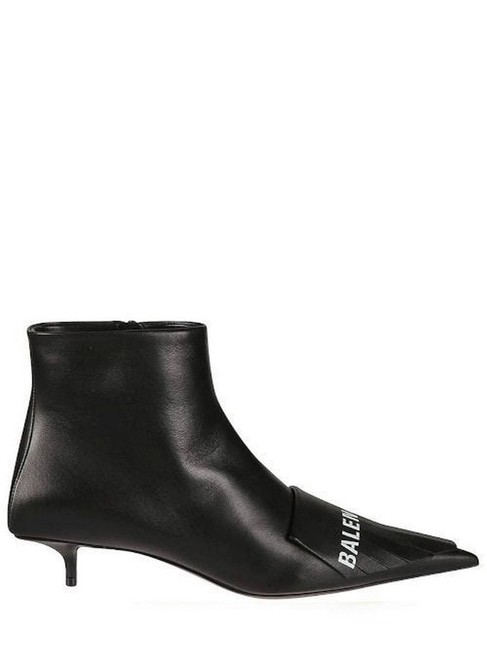 Item - Black Gr Leather Ankle Boots/Booties Size EU 38 (Approx. US 8) Regular (M, B)