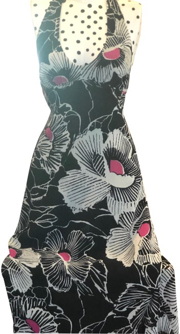 Item - Black and White Georgette Halter Long Casual Maxi Dress Size 2 (XS)